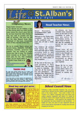 Life@St Albans Termly Newsletters | St Alban's Catholic